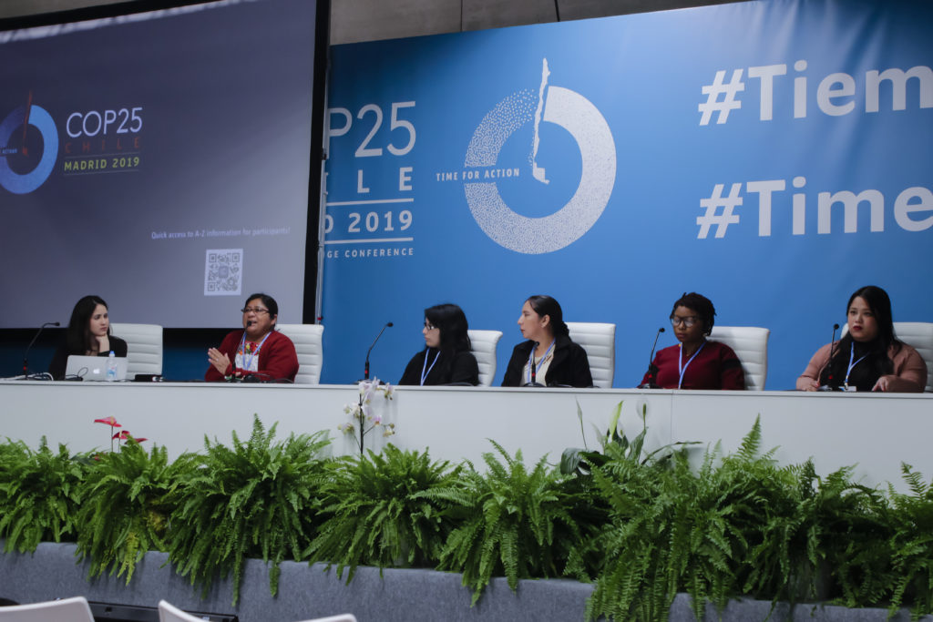 At COP25 in Madrid: FRIDA co-organized an intergenerational panel on feminists narratives, alternatives and solutions to the climate crisis.